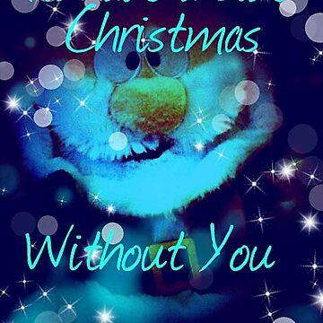 Blue Christmas Card by Charldia