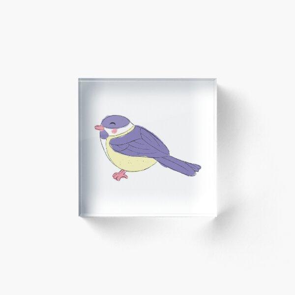 Chonky Chickadee Acrylic Block