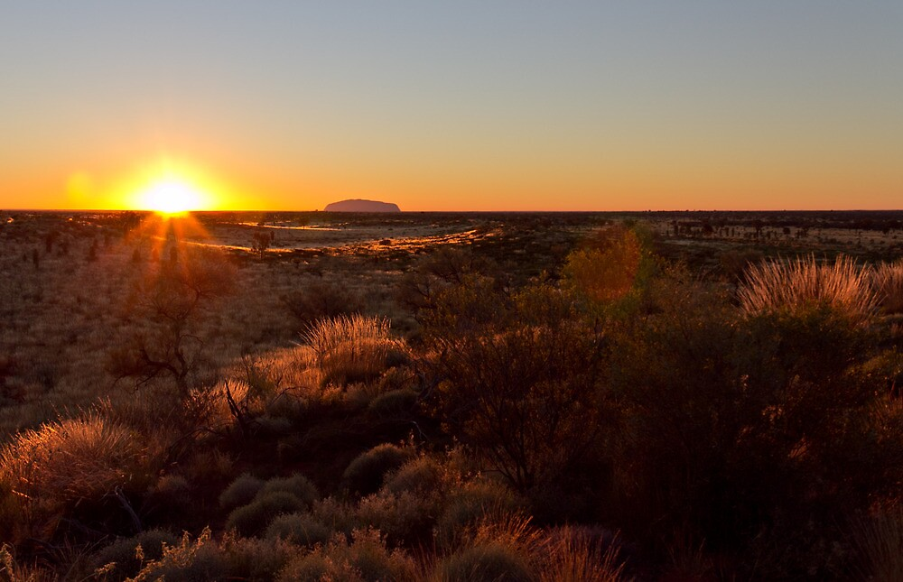 Sunrise at Ayers Rock Uluru by Russell Charters