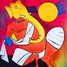 Ganesha..! Inspiration from Hussain's work 01 by Rahul Kapoor