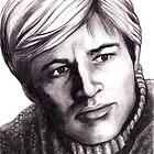 Robert Redford celebrity portrait by Margaret Sanderson