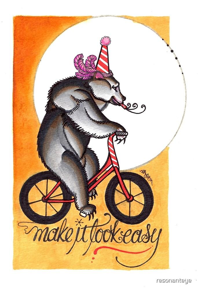 make it look easy, circus bear print by resonanteye