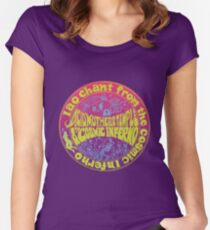 Iao Chant from the Cosmic Inferno Women's Fitted Scoop T-Shirt