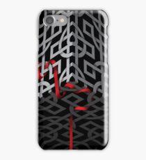 Red ribbon, grey ribbon iPhone Case/Skin