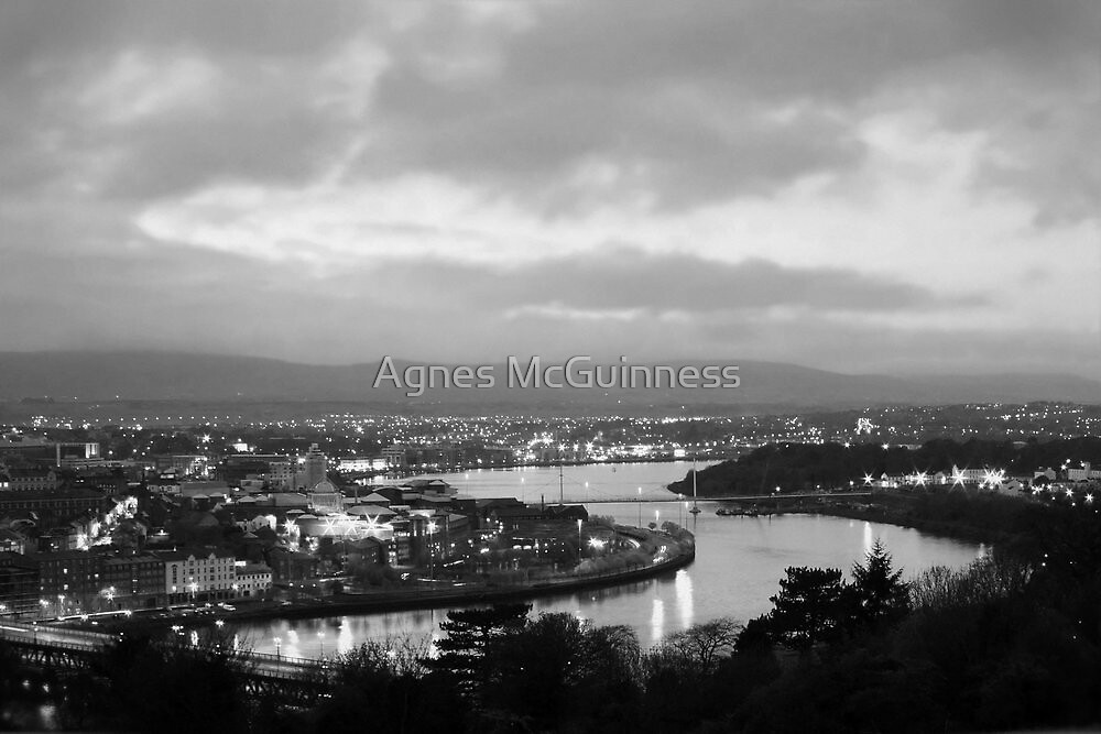 Derry by night by Agnes McGuinness