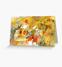 Autumn Leaves and Berries Greeting Card