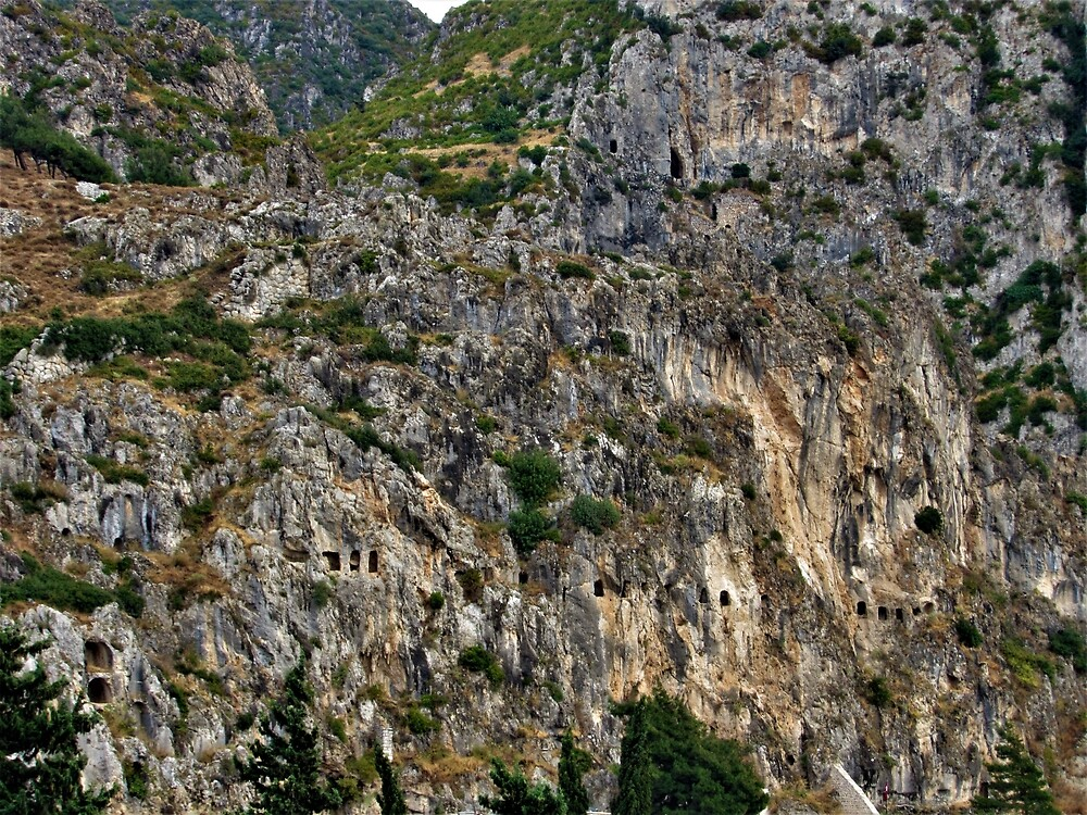 Rock Cut Tombs at Mount Habib-i Neccar by tomeoftrovius