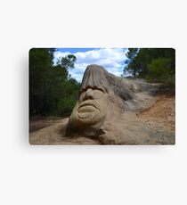 Stone sculpture Canvas Print