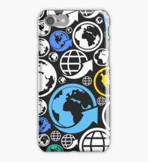 World a background iPhone Case/Skin
