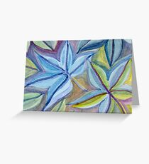Leaf-shaped forms Greeting Card