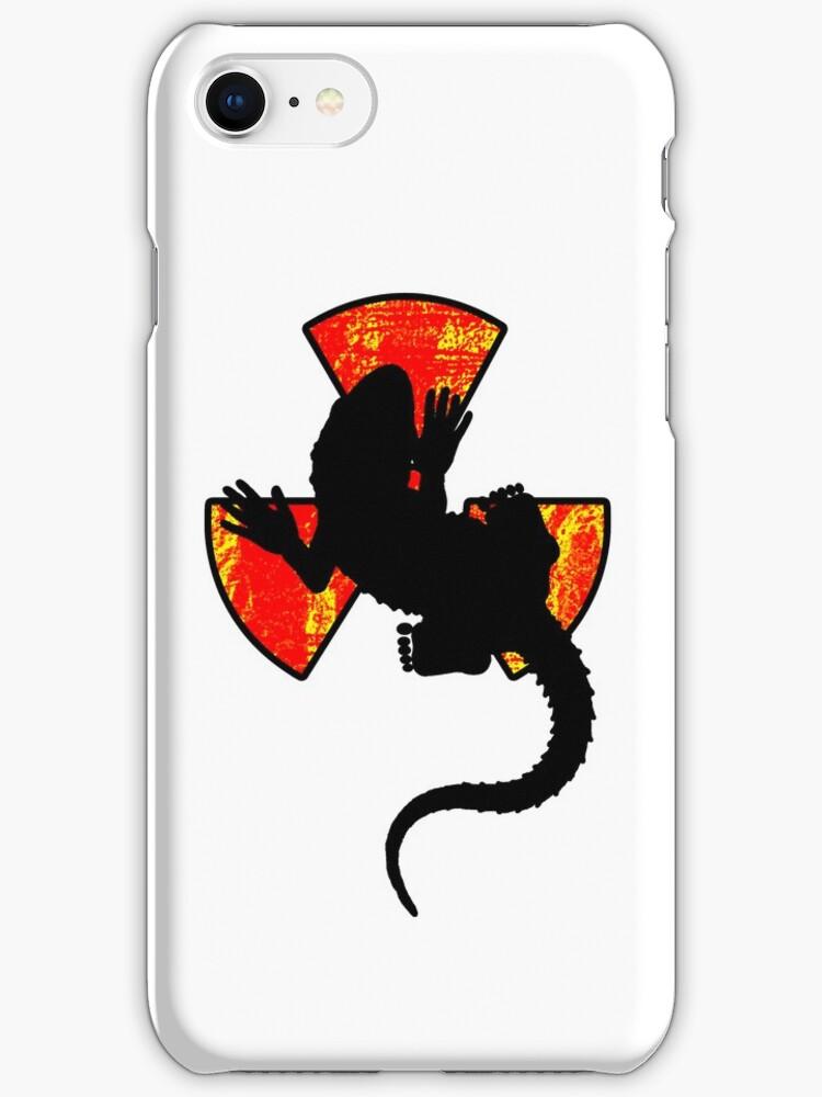 Radiactive Gecko - Funny iPhone Case by Denis Marsili