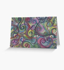 Pinwheels of color Greeting Card