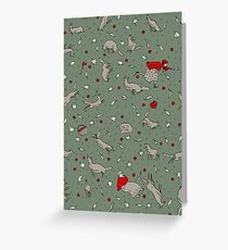 All the wild wolves... Greeting Card