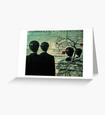 Homage To Magritte Greeting Card