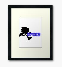 Speed Type: Sonic Framed Print