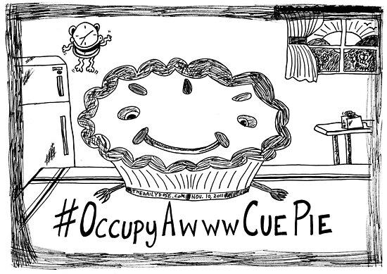 Occupy Awww Cue Pie cartoon by bubbleicious