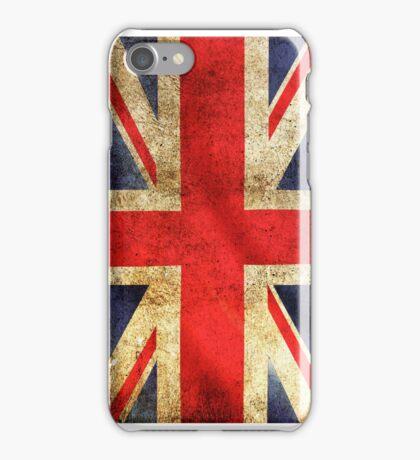 UK Flag - Battleworn iPhone Case/Skin