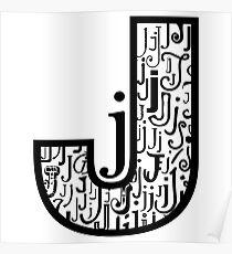 Big j, white background Poster