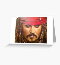 Johnny Depp as Jack Sparrow Greeting Card