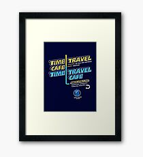 Time Travel Cafe Framed Print