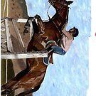 Horse Jumper iPhone Case by Patricia Barmatz