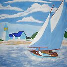 ( SAIL BOAT PAINTING ) DONE IN ART SCHOOL ( ACRYLIC PAINTS )  by TSykes