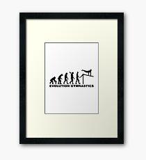 Evolution Gymnastics Framed Print