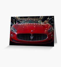Maserati  Greeting Card