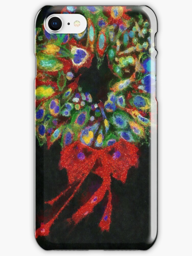 Christmas Wreath iPhone Case by leapdaybride