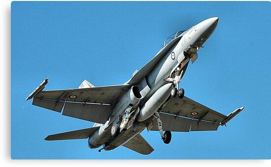 F18 - Super Hornet - RAAF Base Williamtown NSW Australia by Phil Woodman