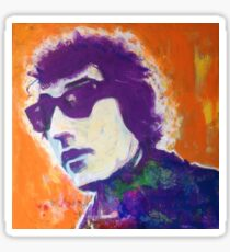 Bob Dylan Pop Art Portrait -Painting by William Wright Sticker