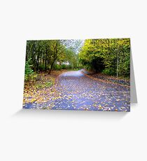 Running out of road.. Greeting Card