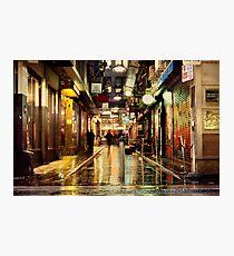 Wanker Lane, in the Rain Photographic Print