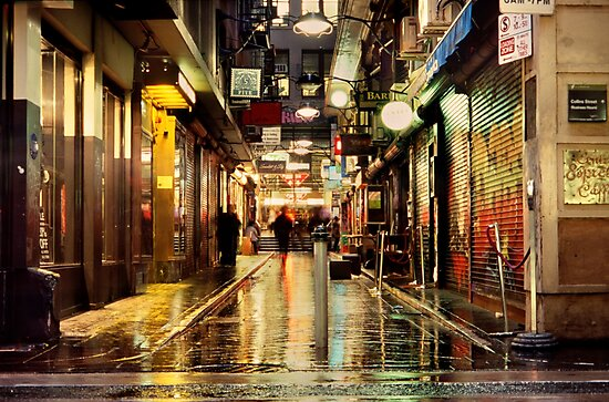 Wanker Lane, in the Rain by mugley