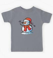 Grinning Snowman Kids Tee