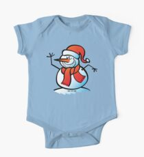 Grinning Snowman One Piece - Short Sleeve