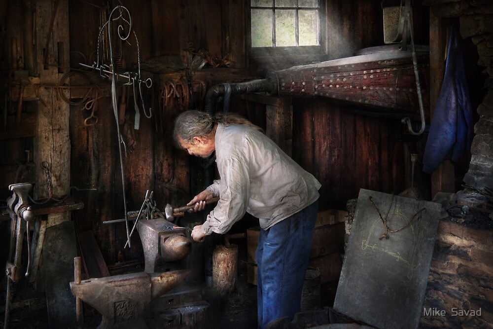 Blacksmith - Tinkering with metal  by Michael Savad