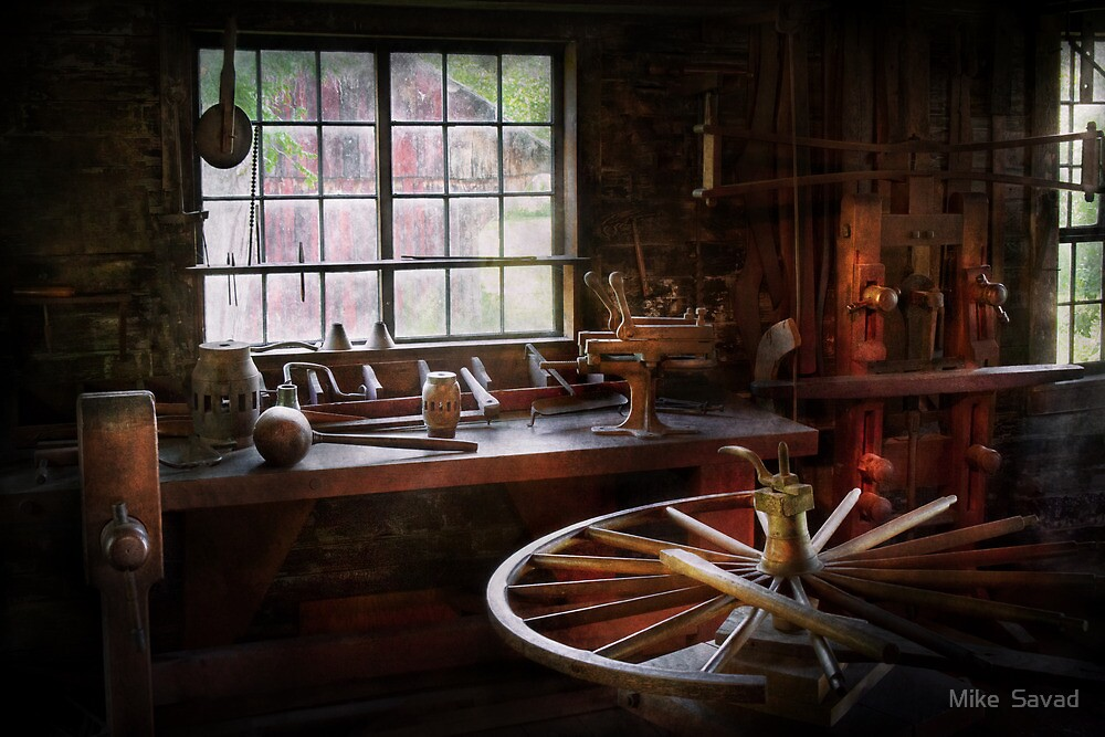 Woodworker - The wheelwright shop  by Michael Savad