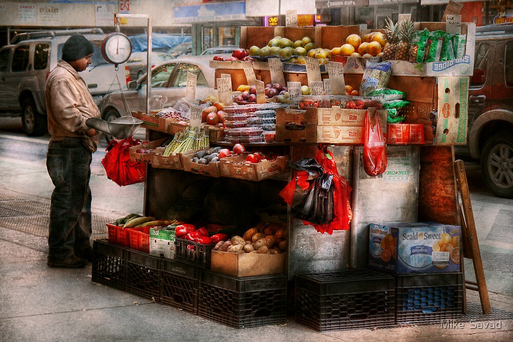Store - NY - Chelsea - Fresh fruit stand by Michael Savad
