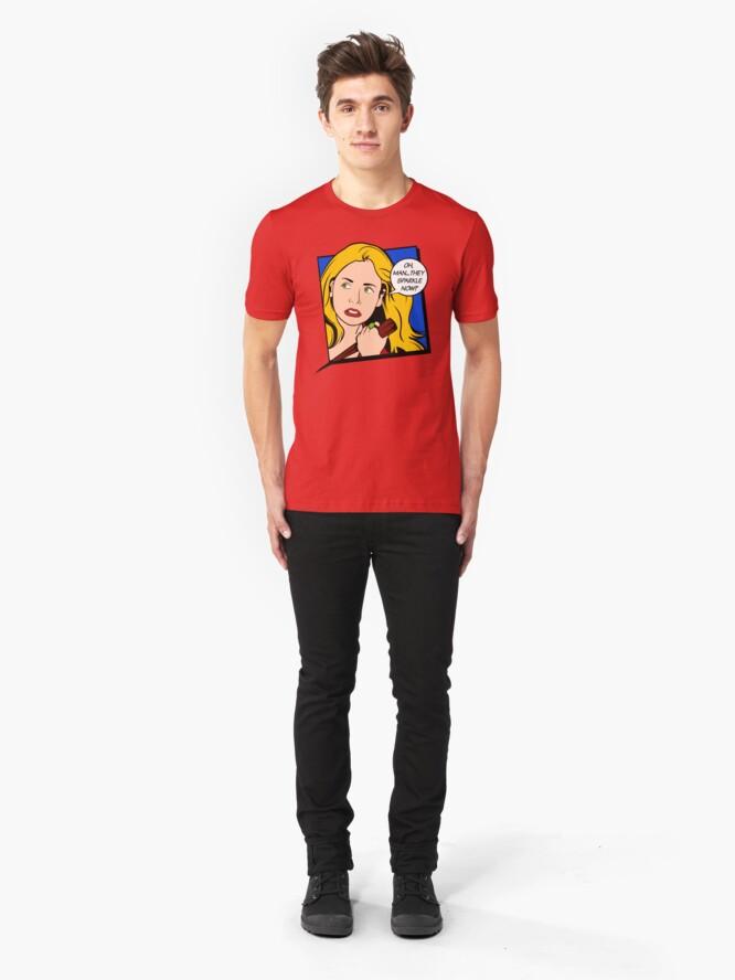 Vista alternativa de Camiseta ajustada Buffy Pop Art