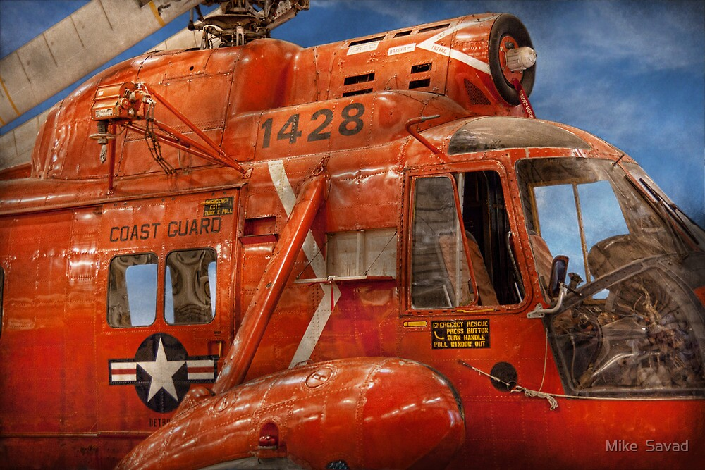 Transportation - Helicopter - Coast guard helicopter by Michael Savad