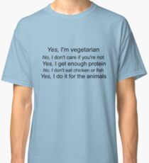 Vegetarian Text Classic T-Shirt