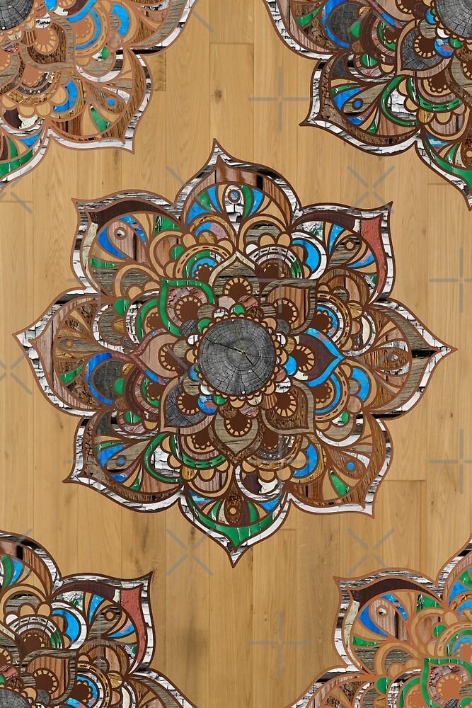 Mandala VII - Wood by aleibanez