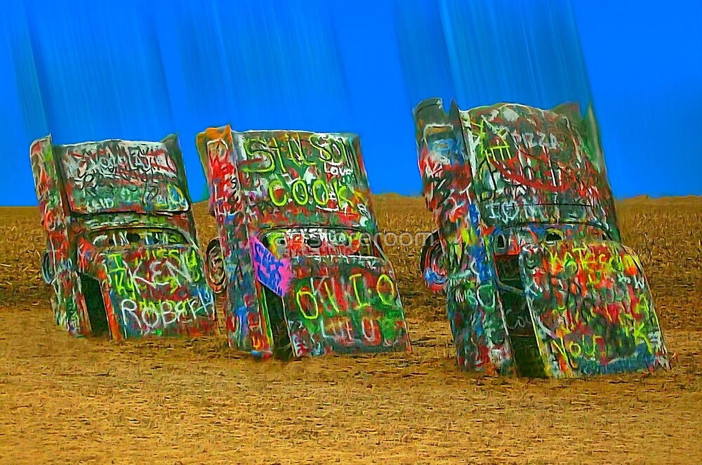 Cadillac Ranch - Amarillo by artstoreroom