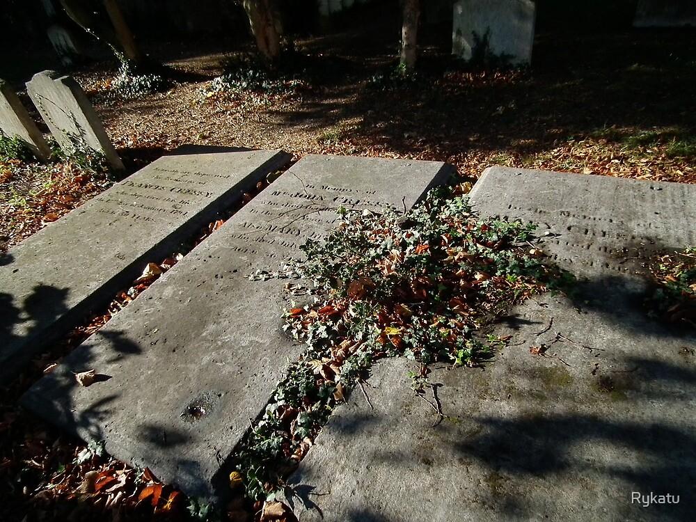 Autumn gravestones  by Rykatu
