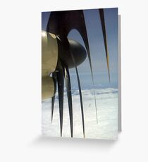 Propeller Slicer Greeting Card