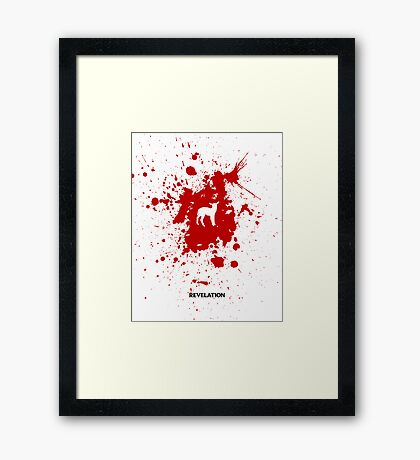 Word: Revelation Framed Print
