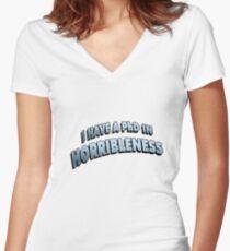 PHD in HORRIBLENESS Women's Fitted V-Neck T-Shirt