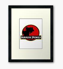 Jurassic Poké Framed Print