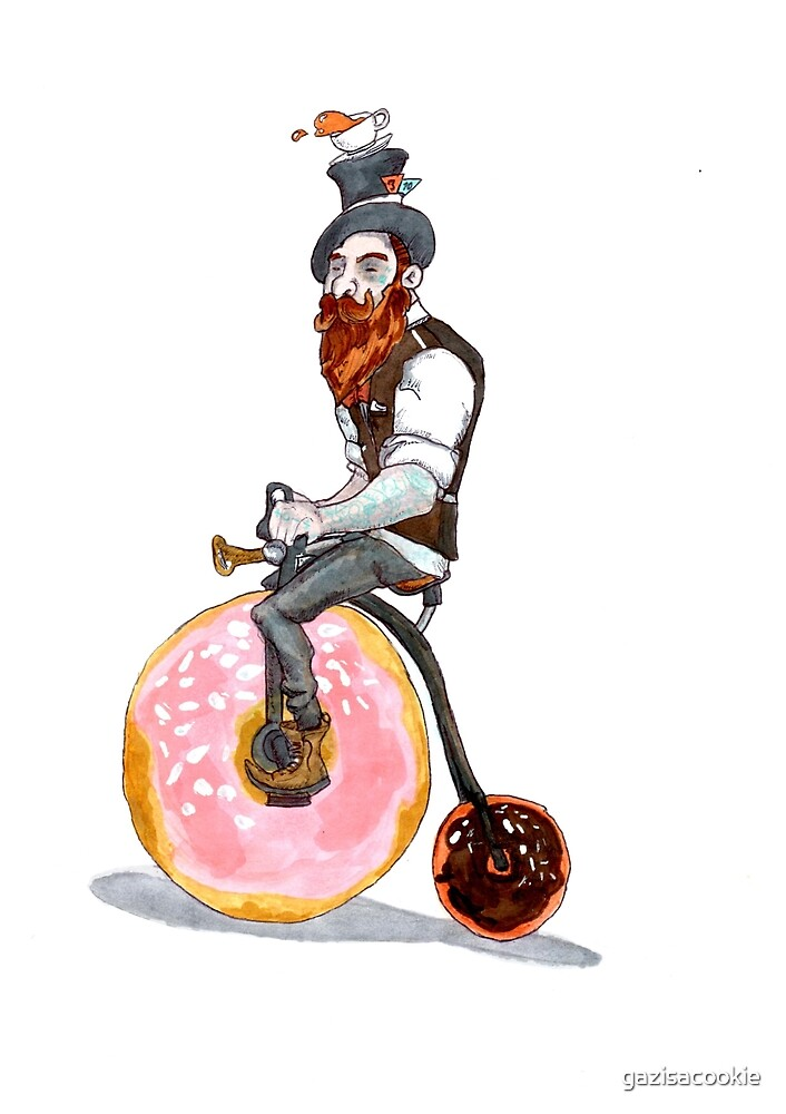 A Mad Tea Drinking Unicyclist  by gazisacookie